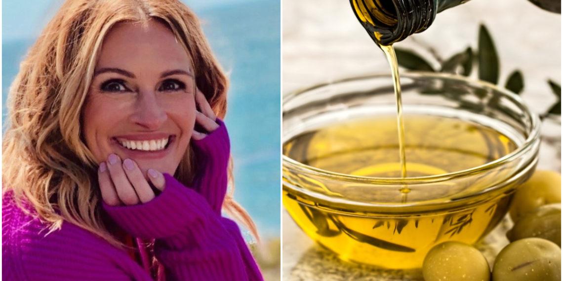 De esta manera Julia Roberts utiliza el aceite de oliva para tener uñas bellas y saludables