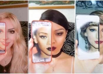 Esta mujer se puede transformar en ciertas famosas copiando el maquillaje de esas artistas