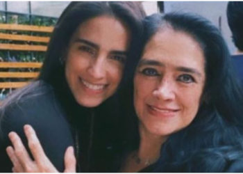 Critican a Bárbara de Regil por golpear en forma de cabezazo a su mamá