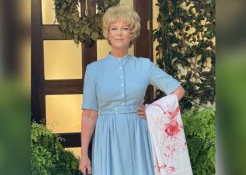 Jamie Lee Curtis se disfrazó este Halloween como 'Psyco' el personaje de su madre